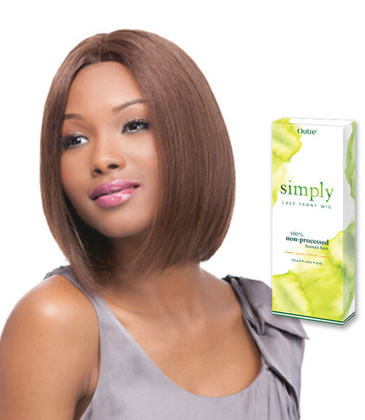OUTRE SIMPLY BRAZILIAN NATURAL LACE FRONT WIG – STRAIGHT BOB