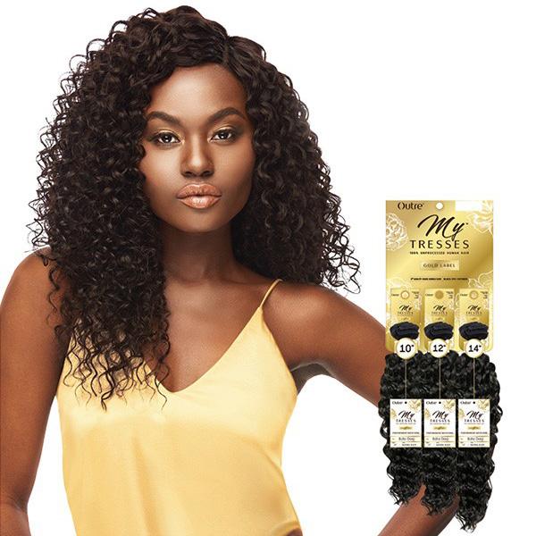 Outre Mytresses Gold Label Unprocessed Human Hair \u2013 BOHO DEEP